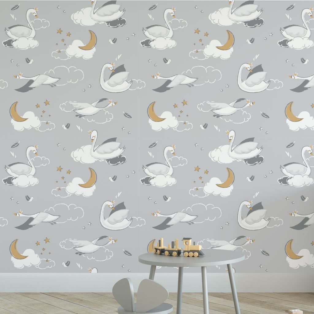 Swan Lake Nursery Wallpaper