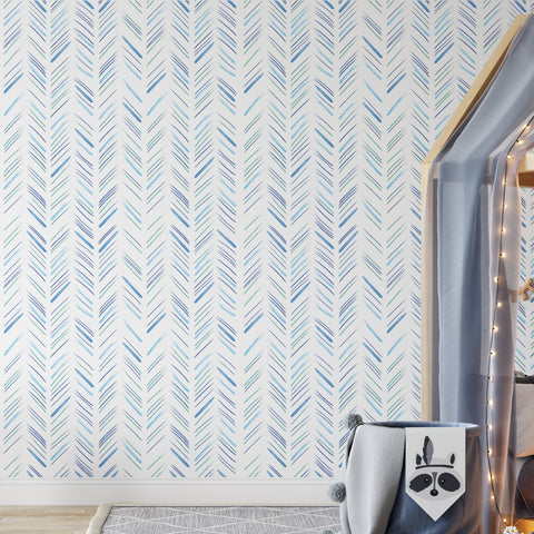 Herringbone Sketch Wallpaper