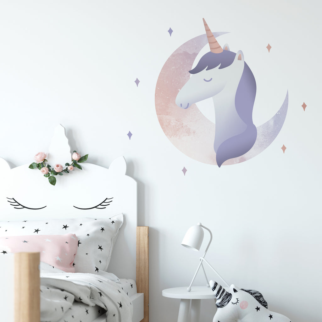 Unicorn Moon Wall Sticker