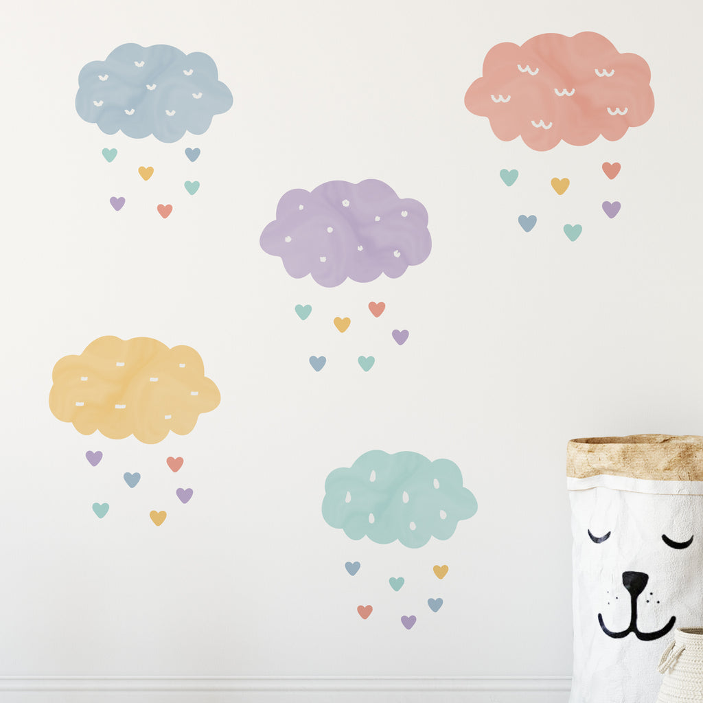 Rain Heart Wall Sticker