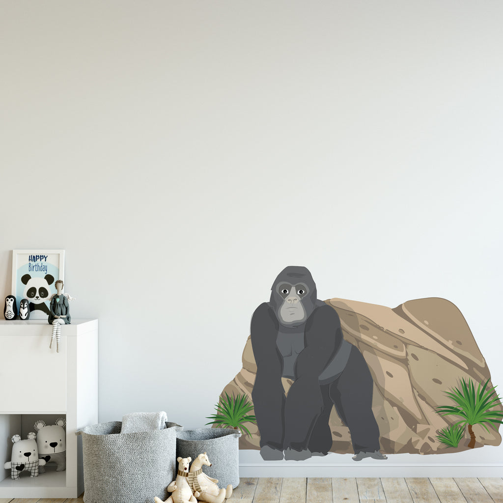 Gorilla Jungle Nursery Wall Sticker