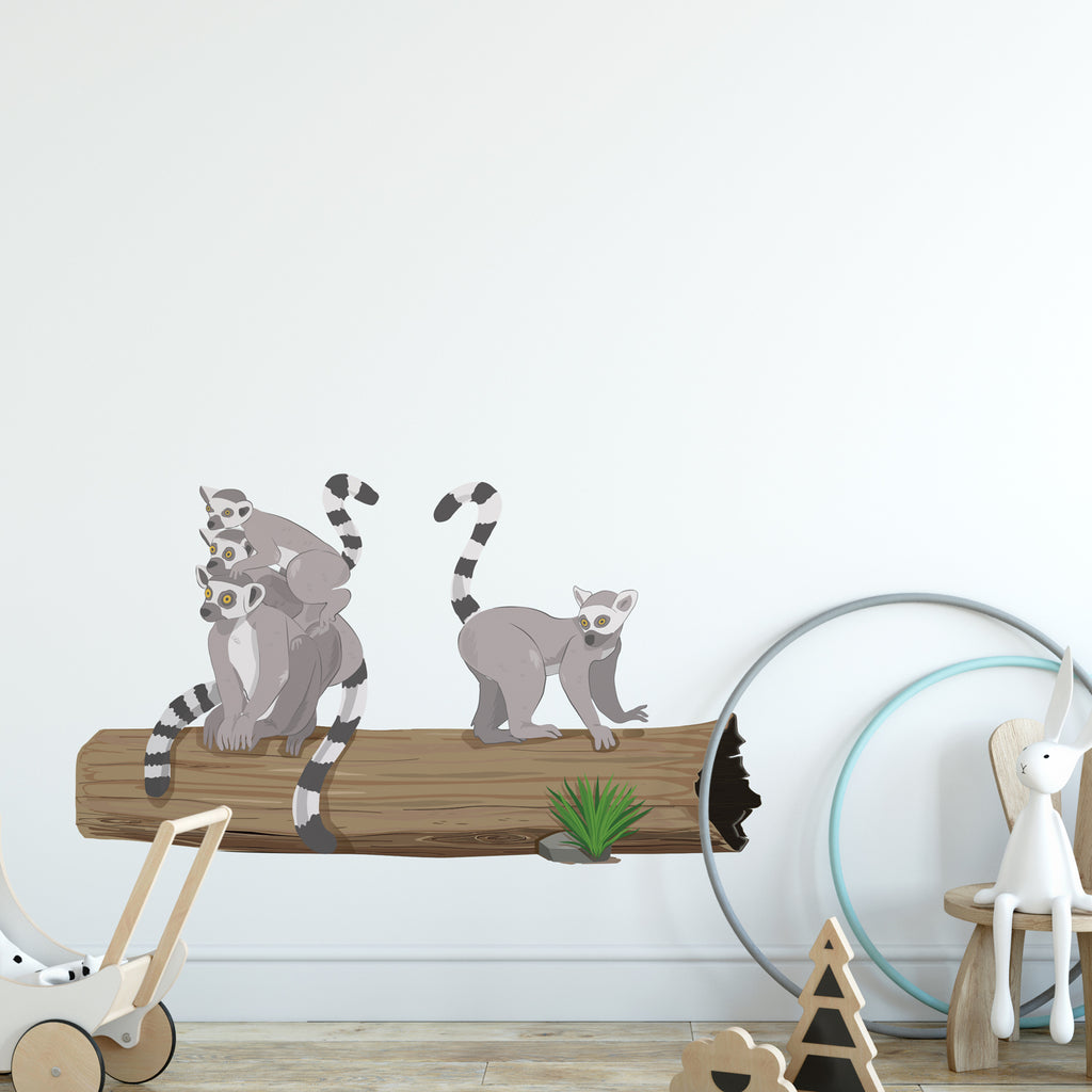 Lemur Jungle Nursery Wall Sticker