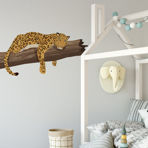 Leopard Jungle Nursery Wall Sticker