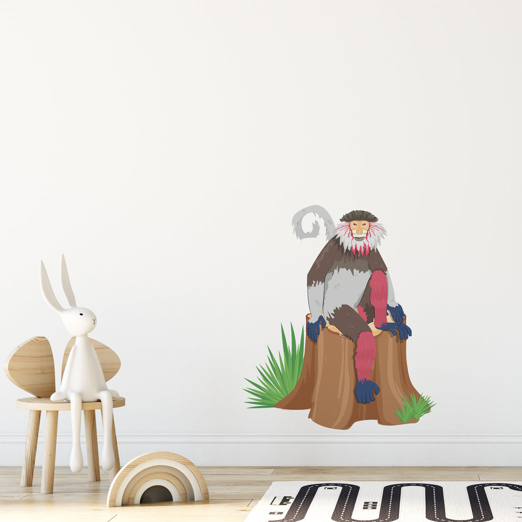 Monkey Jungle Nursery Wall Sticker