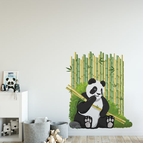 Panda Jungle Nursery Wall Sticker