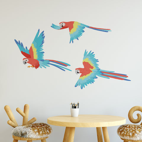 Parrot Jungle Nursery Wall Sticker