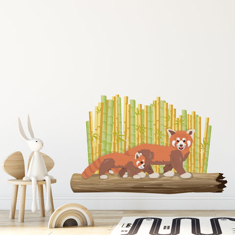 Red Panda Jungle Nursery Wall Sticker