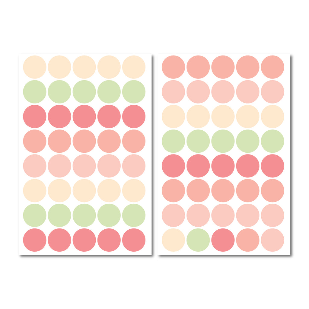 Round 35mm Dot Pattern Decals - Set of 80