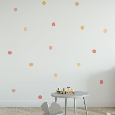 Round 70mm Dot Pattern Decals - Set of 64