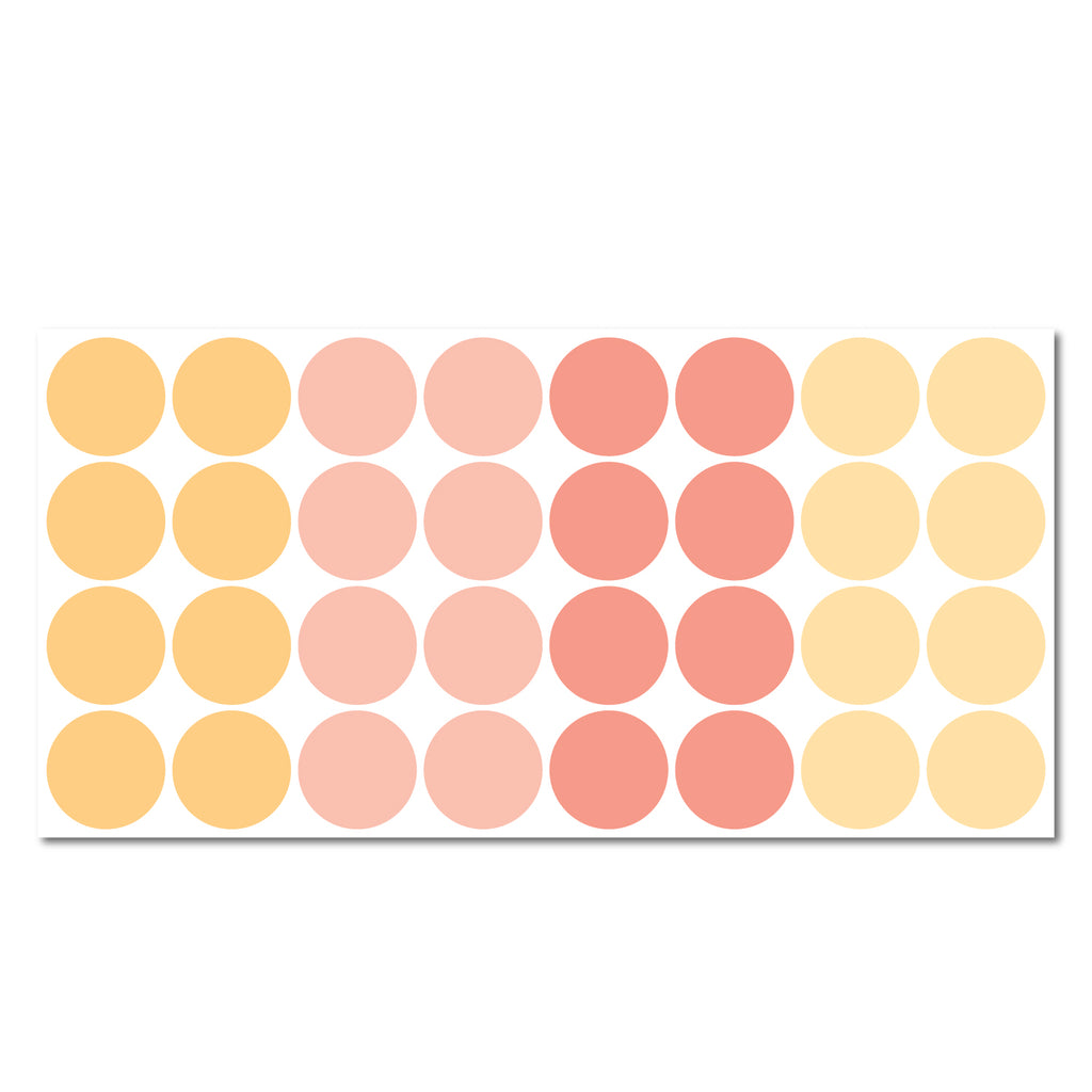 Round 140mm Dot Pattern Decals - Set of 32