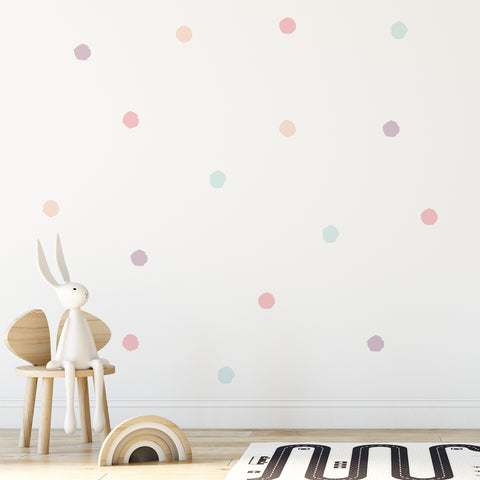 70mm Splatter Dot Pattern Decals - Set of 80