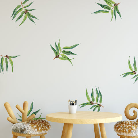 Gum Leaves Wall Sticker Pack