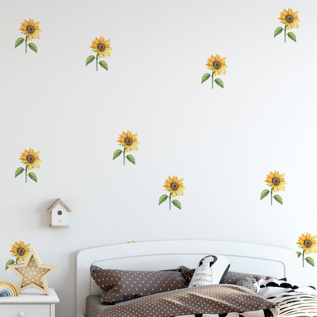Mini Sunflower Wall Sticker Pack