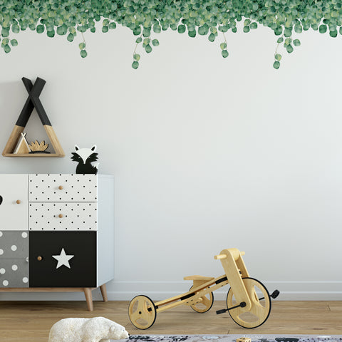 Green Foliage Wall Sticker Pack