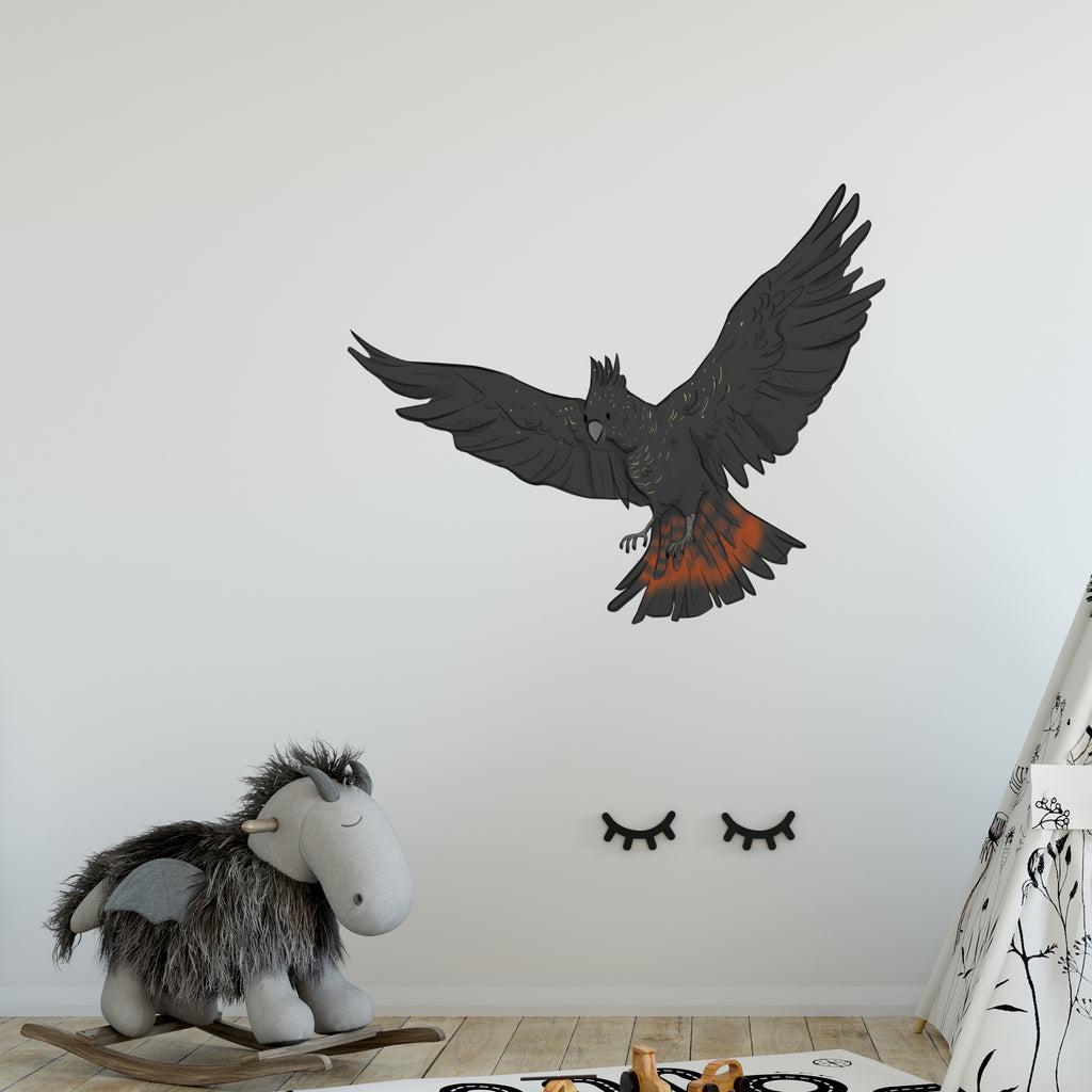 Black Flying Cockatoo Australia Wall Sticker