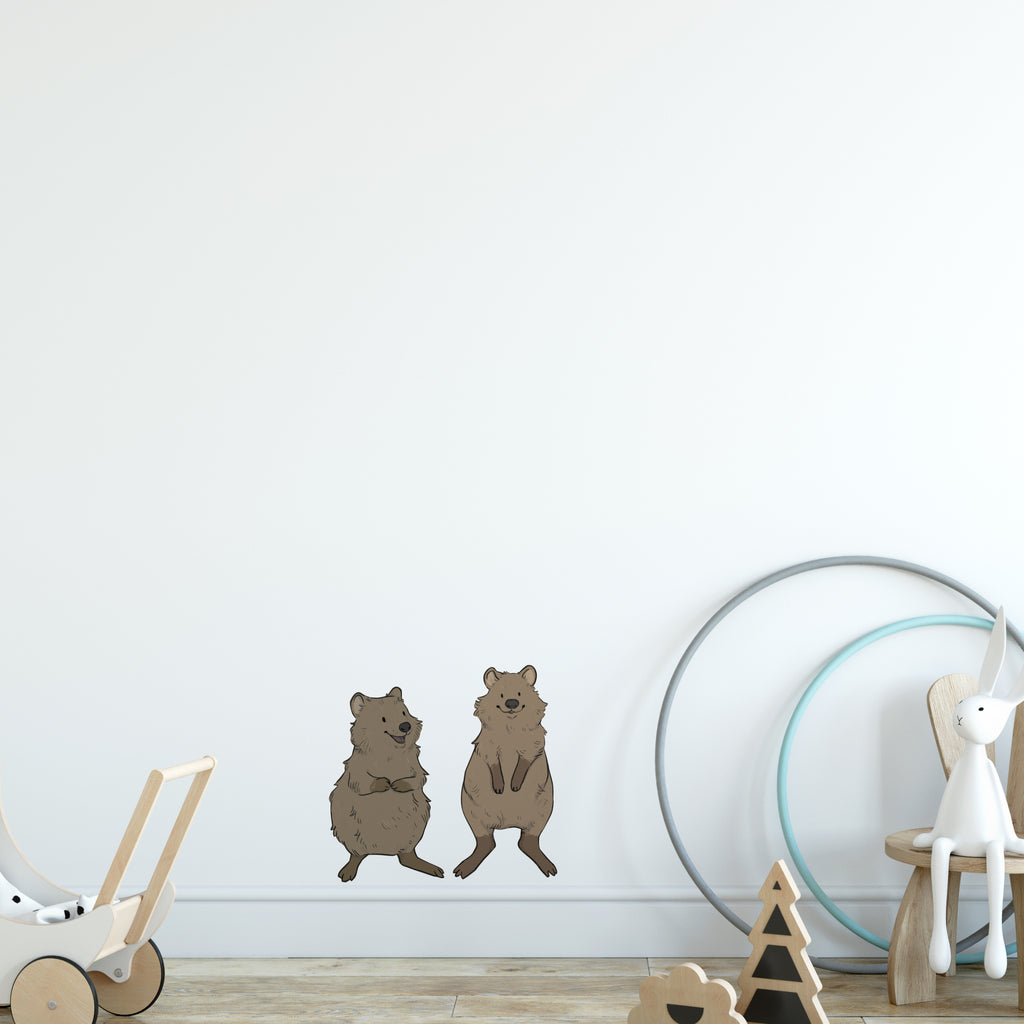 Quokka Pair Australia Wall Sticker