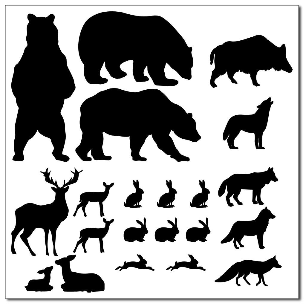 Woodland Silhouette Pack Wall Sticker
