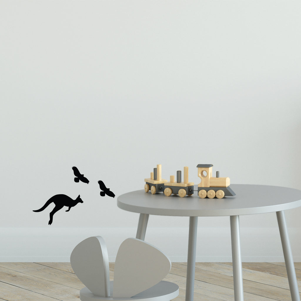 Australian Silhouette Pack Wall Sticker