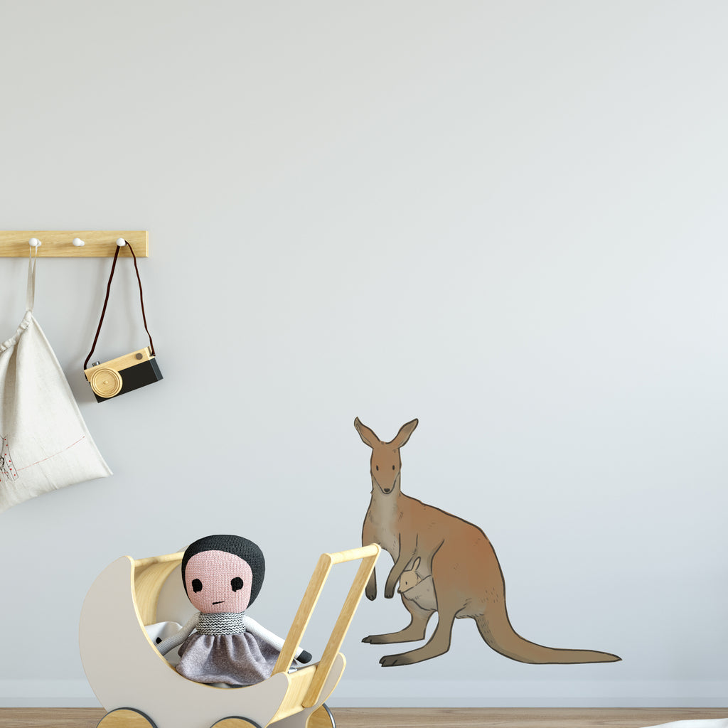 Kangaroo & Joey Australia Wall Sticker