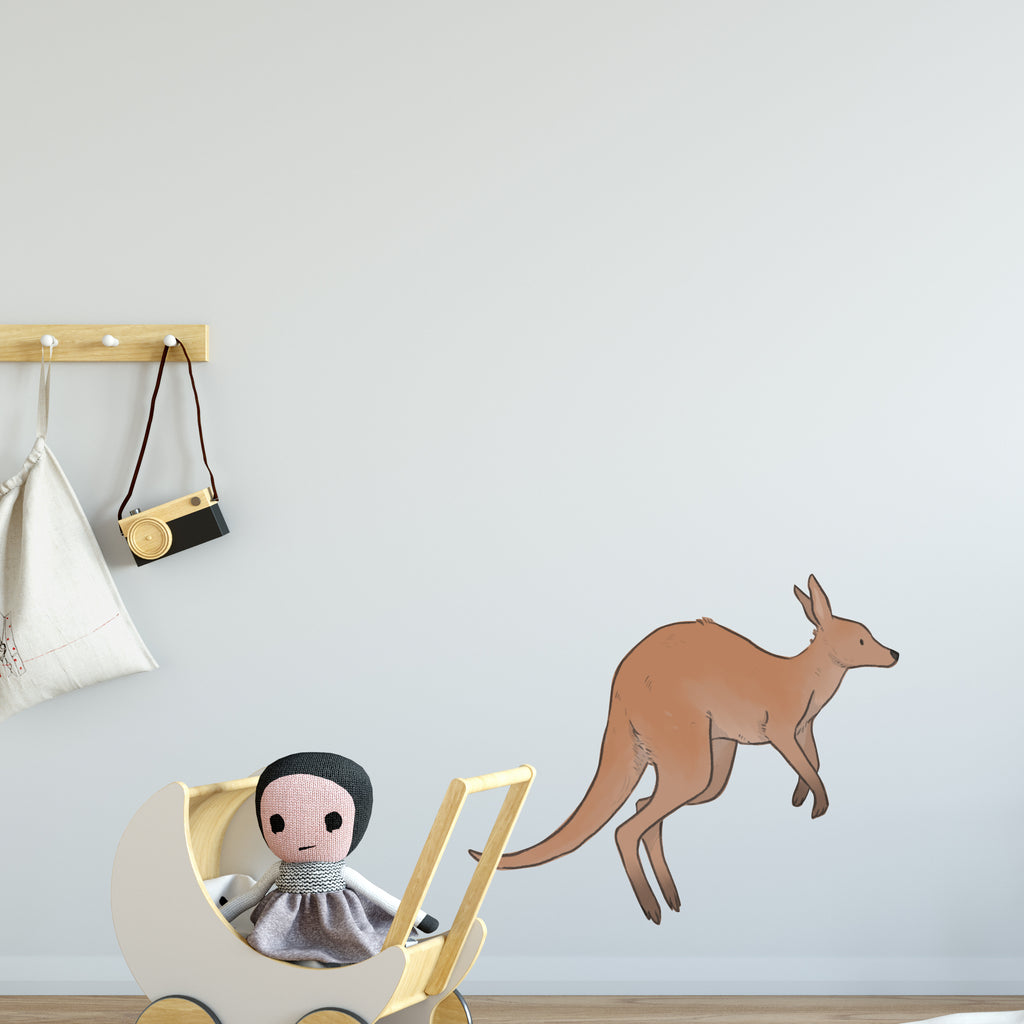 Kangaroo Leaping Australia Wall Sticker