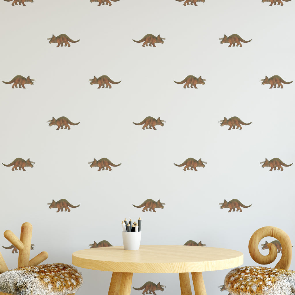 Triceratops Dinosaur Pattern Decal
