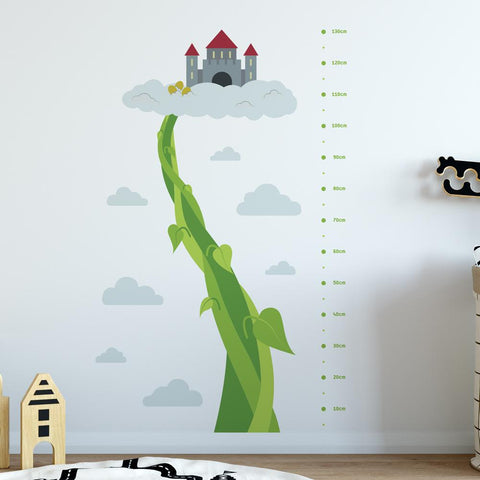 Beanstalk Height Chart Wall Sticker