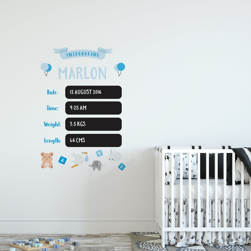 Baby Chalkboard Wall Sticker