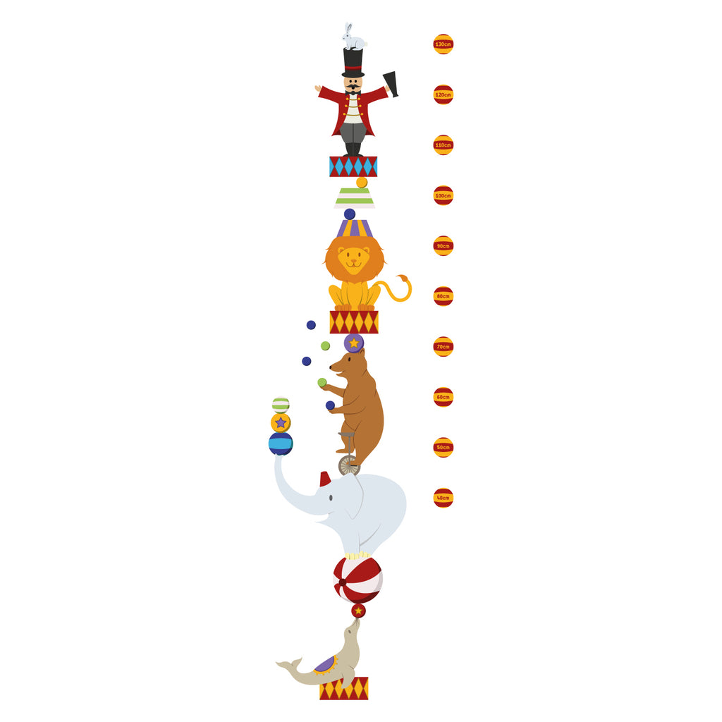 Circus Height Chart Wall Sticker