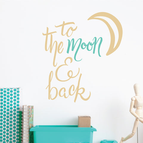 To The Moon & Back Wall Sticker