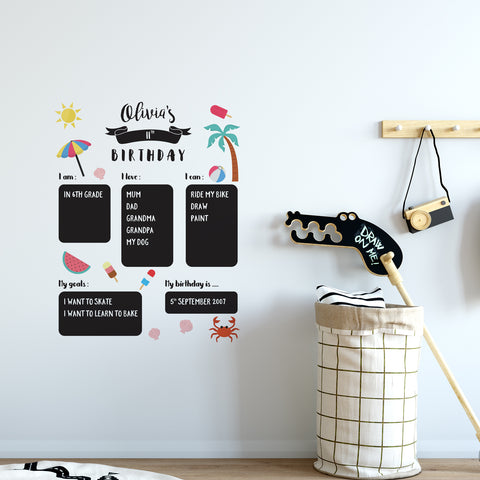 Happy Birthday Chalkboard Wall Sticker
