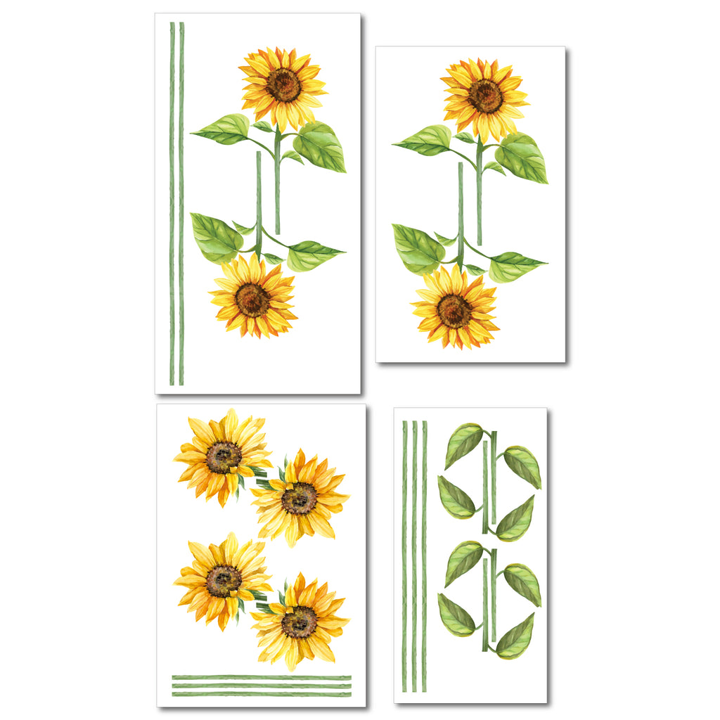 Sunflower Wall Sticker Pack