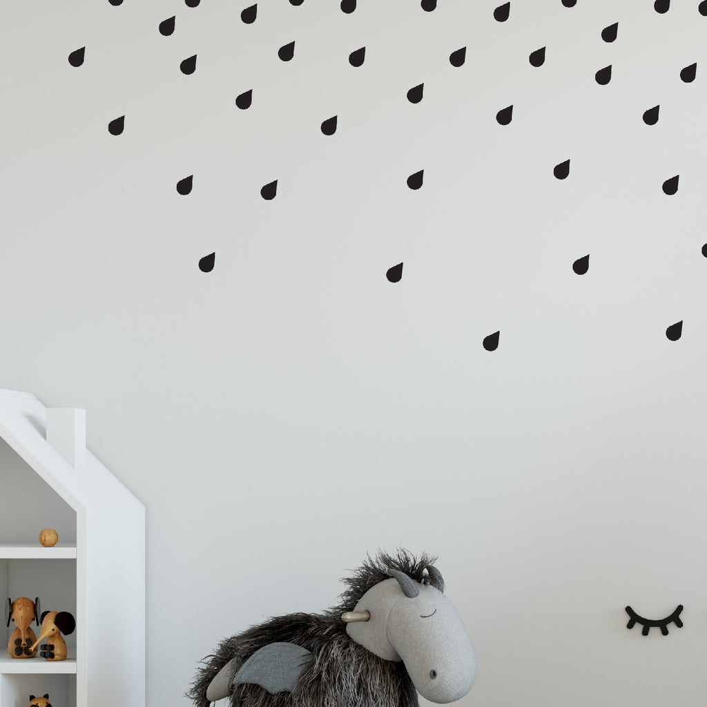 Rain Drop Wall Pattern Decal - Set of 45