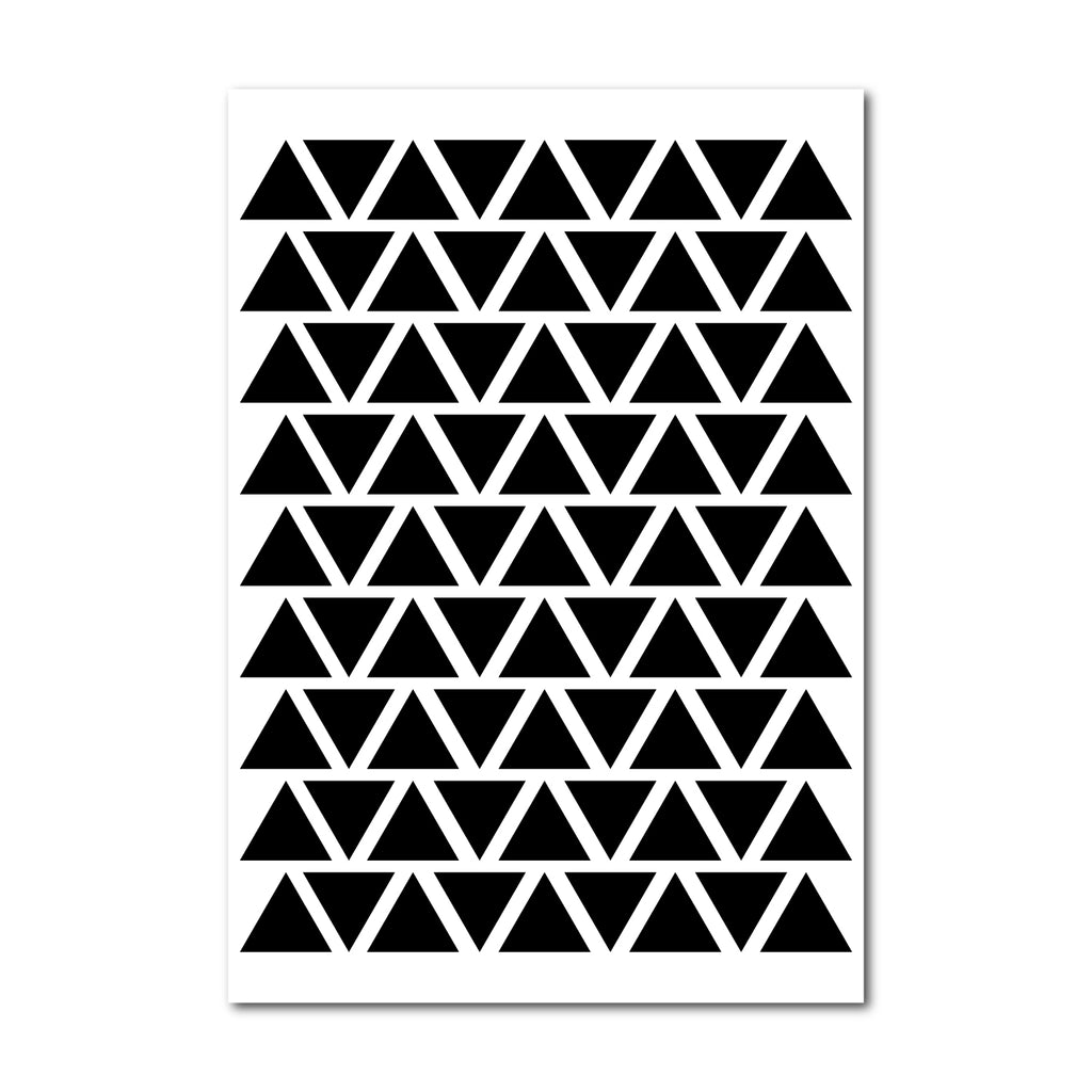 Triangle Wall Pattern Decal - Set of 81