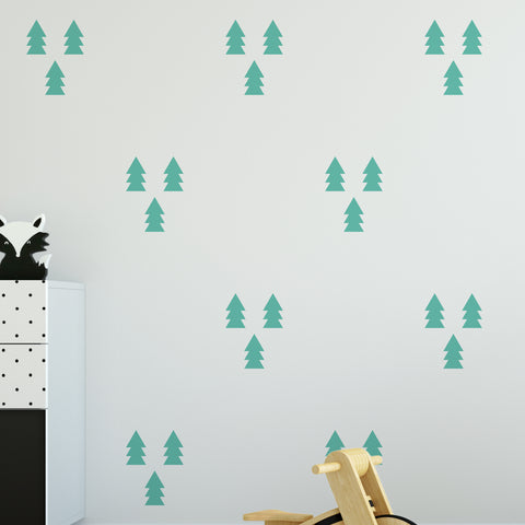 Pine Wall Pattern Decal - Set of 27