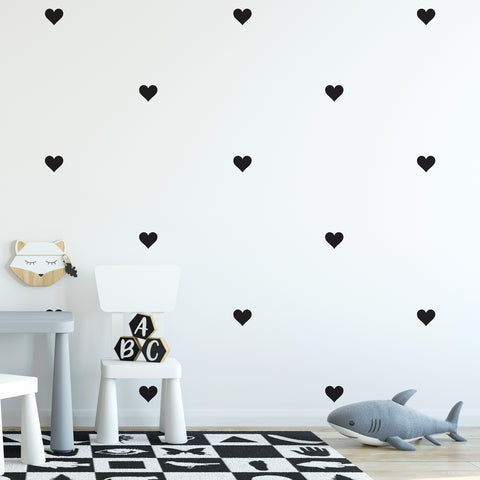 Love Heart Wall Pattern Decal - Set of 24