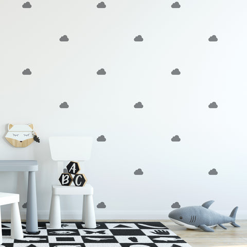 Cloud Wall Pattern Decal - Set of 32