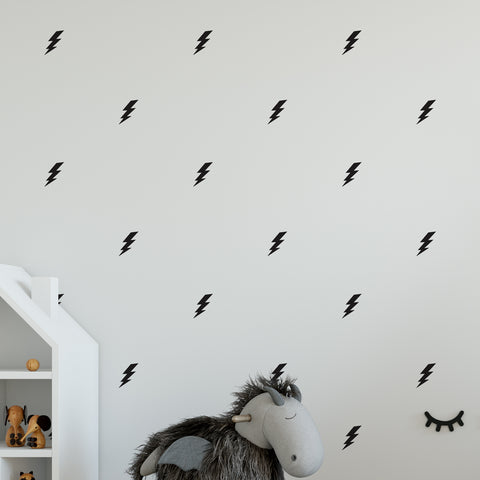 Lightning Bolt Flash Wall Pattern Decal - Set of 32