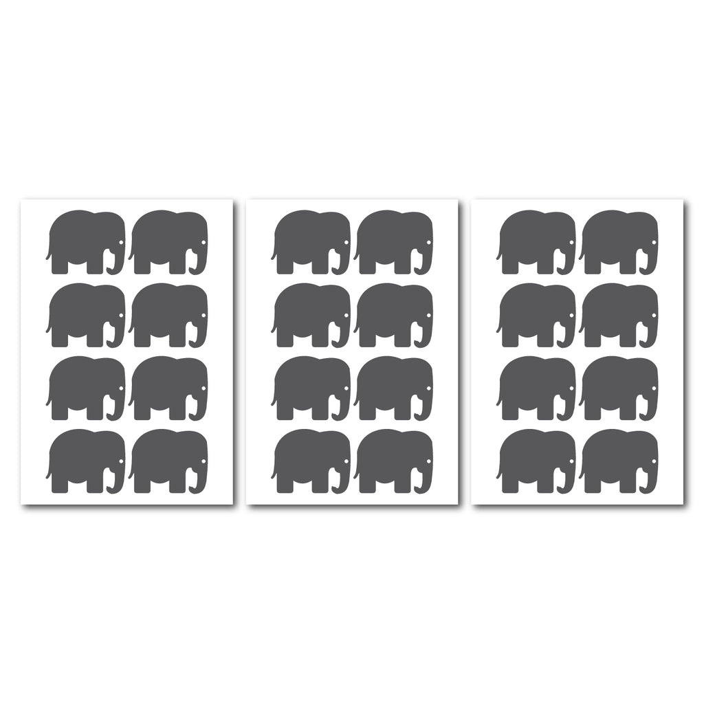 Elephant Wall Pattern Decal - Set of 24