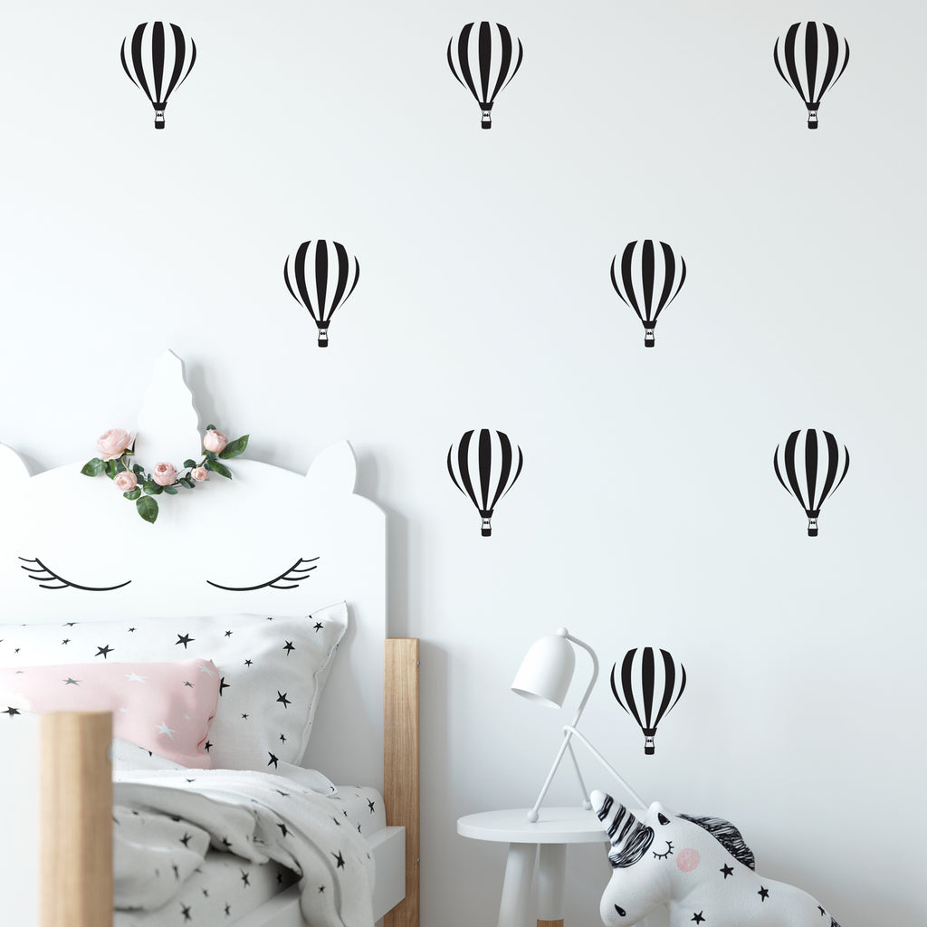 Hot Air Balloon Wall Pattern Decal - Set of 16