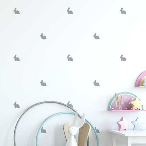 Rabbit Wall Pattern Decal - Set of 24