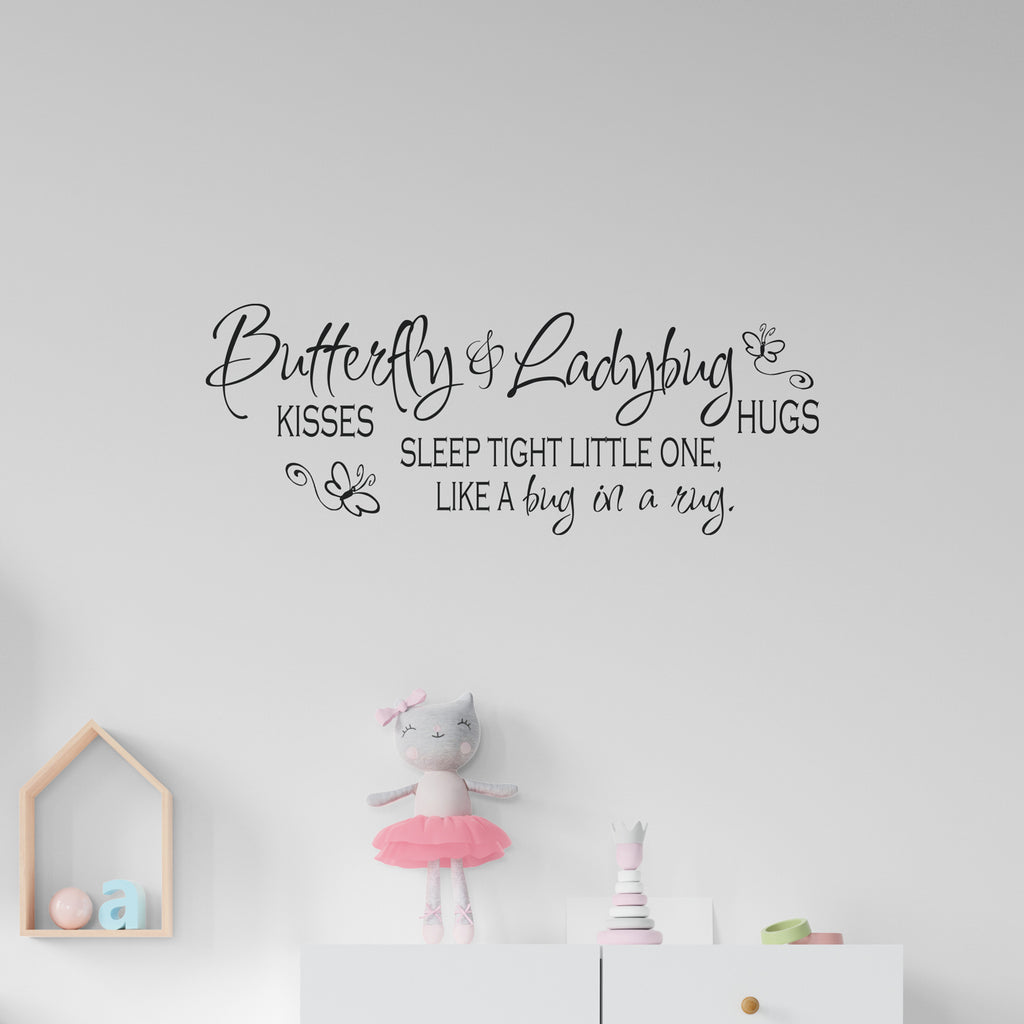 Butterfly & Ladybug Sleep Tight Wall Sticker