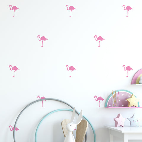 Flamingo Wall Pattern Decal - Set of 30