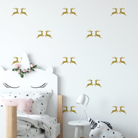Jumping Reindeer Wall Pattern Decal - Set of 24