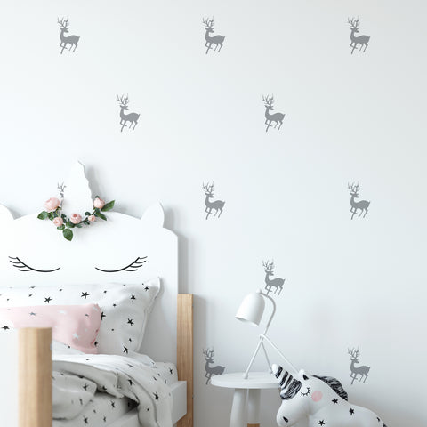 Reindeer Wall Pattern Decal - Set of 36