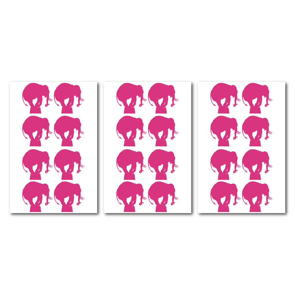 Circus Elephant Wall Pattern Decal - Set of 24