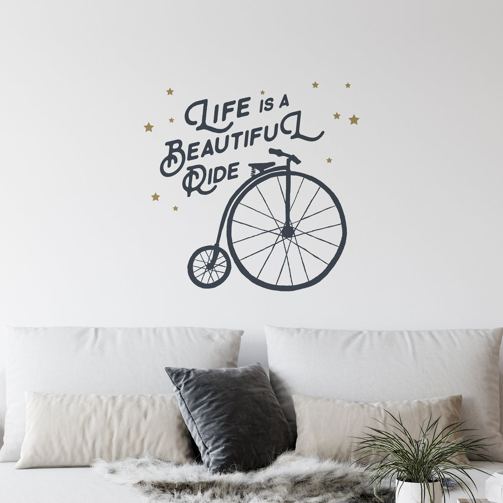 Life Is A Beautiful Ride Wall Sticker