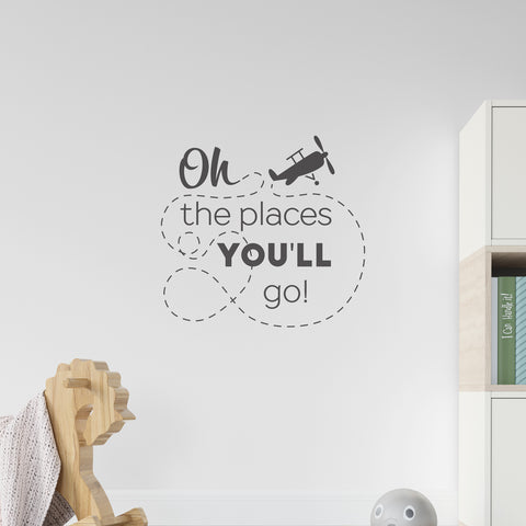 Oh The Places You'll Go Wall Sticker