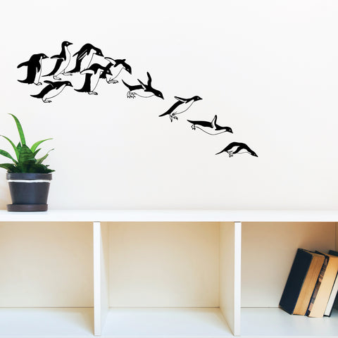 Penguin Launch Wall Sticker