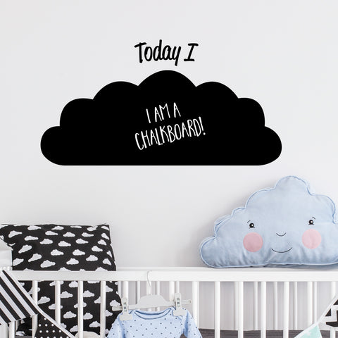 Cloud Achievement Chalkboard Wall Sticker