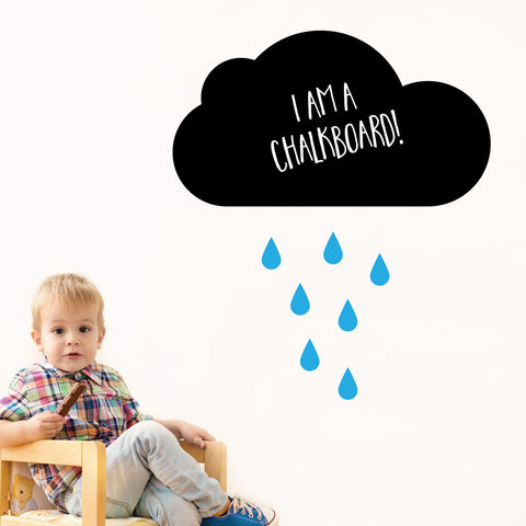 Cloud Chalkboard Wall Sticker